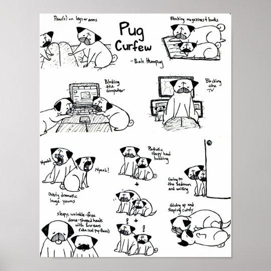 Pug Curfew Poster