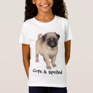 Pug Cute & Spoiled Girls Babydoll Shirt