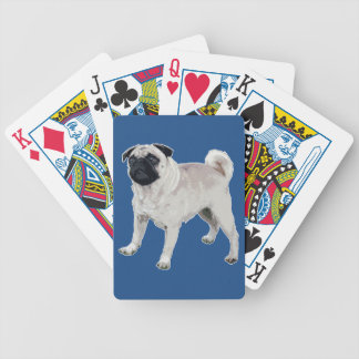 Pug cutie bicycle playing cards