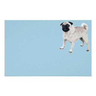 Pug cutie stationery paper