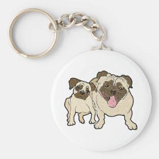 Pug Dad Keychain