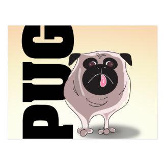 Pug Dog Art Postcard
