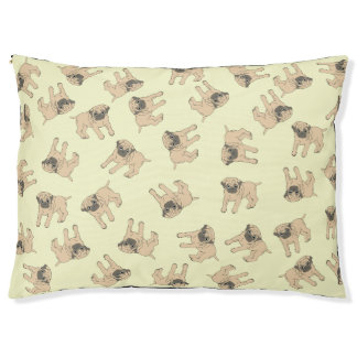 Pug Dog Bed Design Yellow