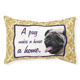 Pug dog bed small dog bed