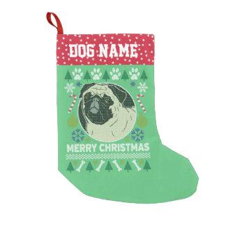 Pug Dog Breed Ugly Christmas Sweater Small Christmas Stocking