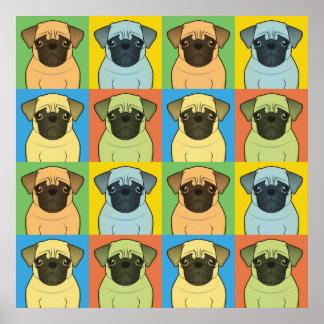 Pug Dog Cartoon Pop-Art Poster