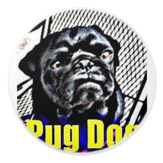 Pug Dog Ceramic Knob