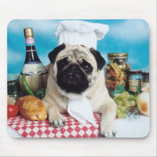 Pug Dog  Chef Mousepad