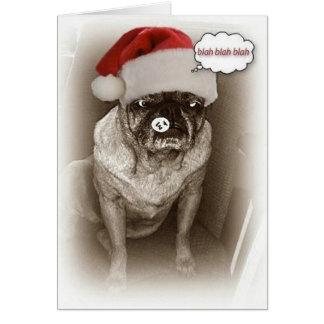 Pug Dog Christmas Card