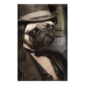 Pug Dog Dapper Gent Stationery