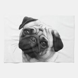 Pug Dog Hand Towels