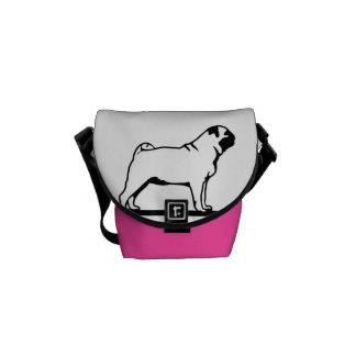 Pug Dog LOVE Messenger Bag