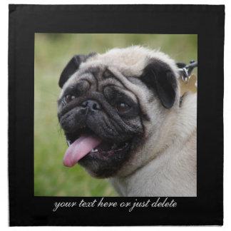 Pug dog napkin, custom cute photo table napkin