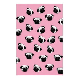 Pug dog pattern customized stationery