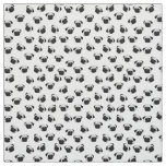 Pug dog pattern fabric
