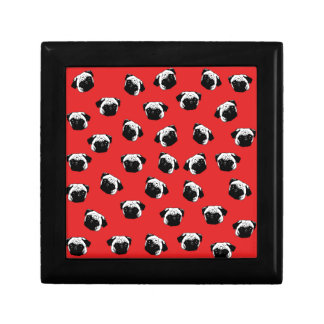 Pug dog pattern gift box