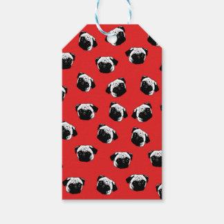 Pug dog pattern gift tags