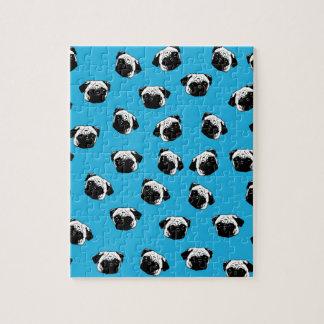 Pug dog pattern jigsaw puzzle
