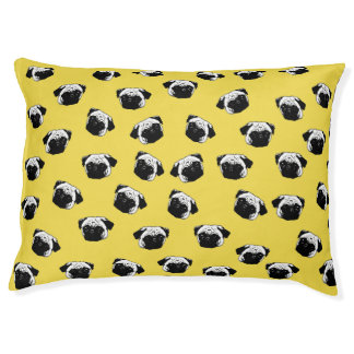 Pug dog pattern large dog bed