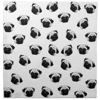 Pug dog pattern napkin