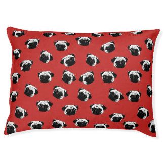 Pug dog pattern pet bed