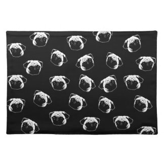 Pug dog pattern placemat