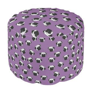 Pug dog pattern pouf