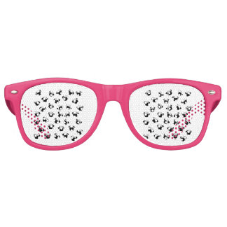 Pug dog pattern retro sunglasses