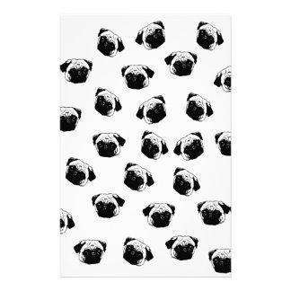 Pug dog pattern stationery