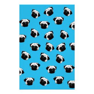 Pug dog pattern stationery design