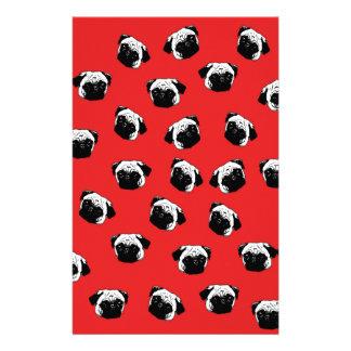 Pug dog pattern stationery paper
