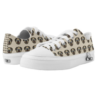 Pug Dog Pattern Zipz Low Top Shoes Sneakers