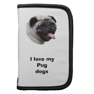 Pug dog photo portrait folio planner