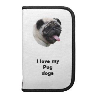 Pug dog photo portrait planner