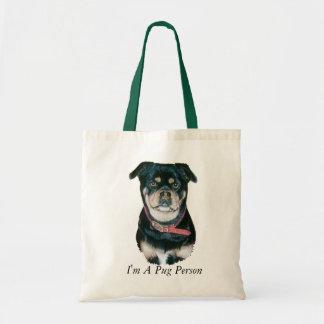 pug dog portrait realist art black and tan dog