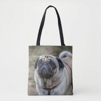 Pug dog print-all-over tote bag