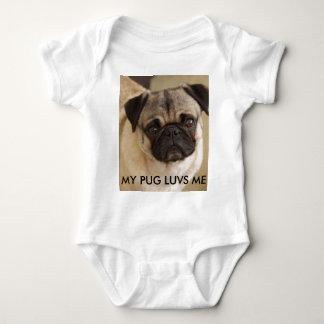 PUG DOG PUP BABY BODYSUIT