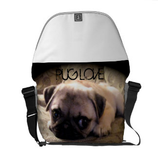 Pug Dog Puppy Messenger Bag