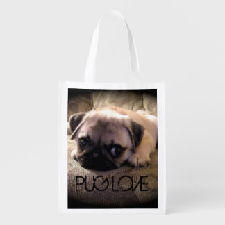 Pug Dog Reusable Bag
