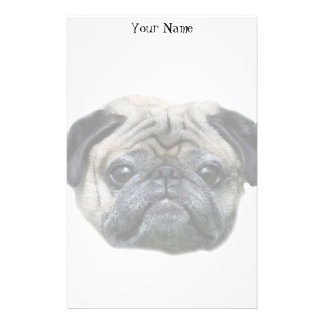 Pug dog stationary stationery design