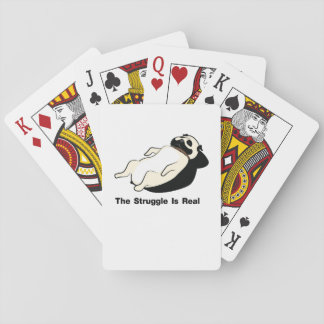 Pug Dog The Struggle Is Real Gym Funny Playing Cards