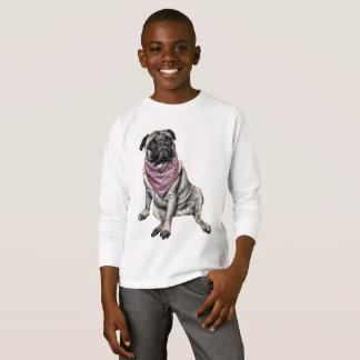 Pug Dog Theme Boy's T-shirt