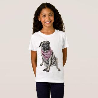 Pug Dog Theme Girl's T-shirt
