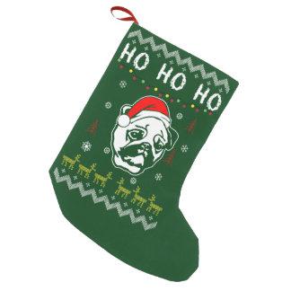Pug Dog Ugly Christmas Ho Ho Ho Small Christmas Stocking
