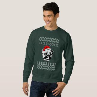Pug Dog Ugly Christmas Ho Ho Ho Sweatshirt