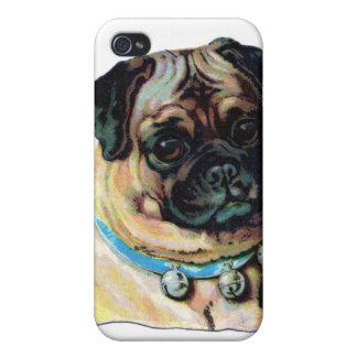 Pug Dog Vintage iPhone 4/4S Case