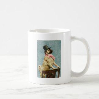 Pug Dog Vintage Stereoview Classic White Coffee Mug