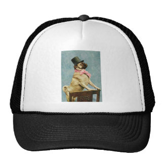 Pug Dog Vintage Stereoview Trucker Hats