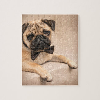 Pug Dog with Bow Tie Jigsaw Puzzle