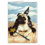 Pug Dog Wizard Magician Cards